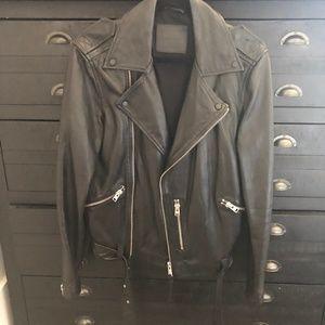 All Saints Leather Jacket - XS